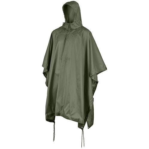 Heavy Duty Olive Drab Rain Poncho/ 1/2 Shelter