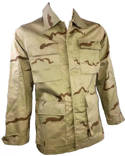 USMC/Army/Navy/Air Force Surplus 3 Color Desert BDU Combat Shirt-Ripstop