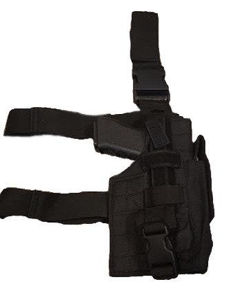 Black Tactical Leg Drop Pistol Holster