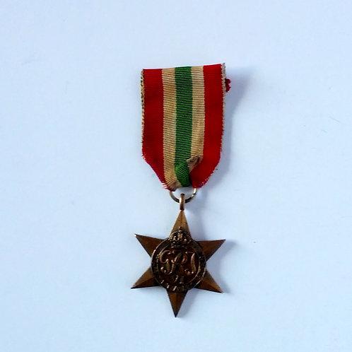 Canadian WW II Italy Star Medal