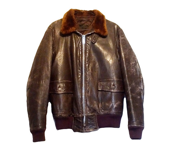 Vintage US Navy WW2  AN-6522 Leather Flight Jacket