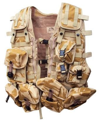 British Army Surplus Osprey Desert Load Bearing Combat Vest