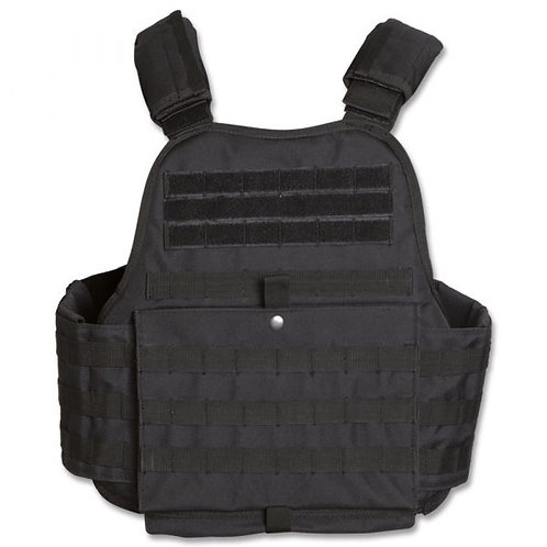 Mil-tec Black Plate Carrier Vest-New