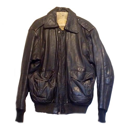 Vintage Leather Aviator Jacket