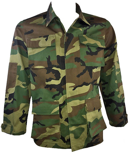 Woodland US Army Style BDU Combat Shirt - New