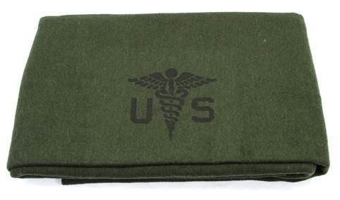 US Army Medical Corps Surplus Wool Blanket-Unused