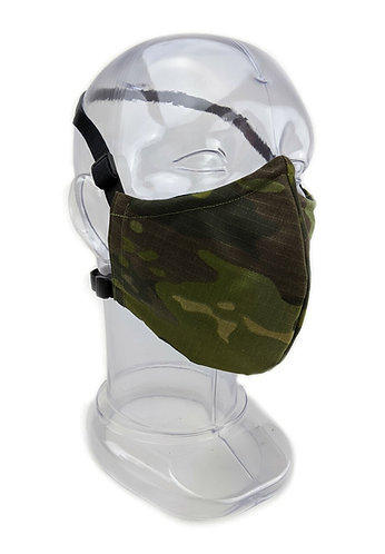 Reusable Tropical Multicam, 2 or 3 Ply Fabric Face Mask