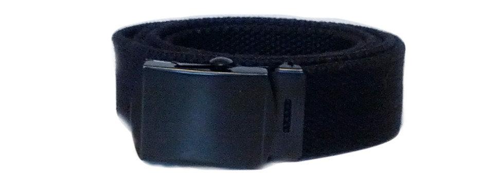 US Army Black Canvas Style Belt
