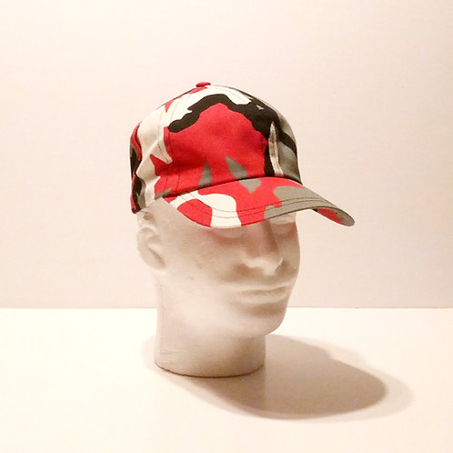 Pinkish Red Camo Baseball Cap