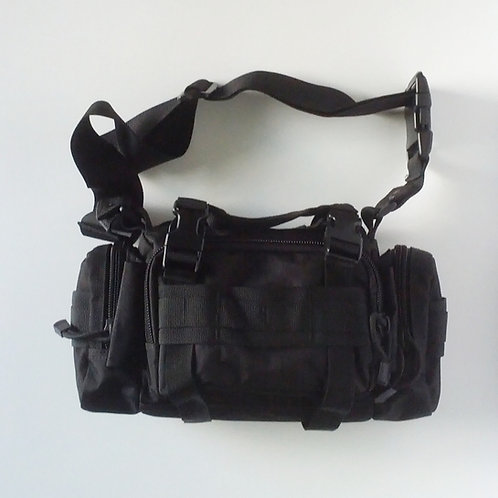 Black Tactical Three Way Carry Pack