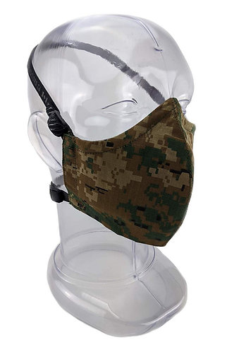 Reusable Marpat 2 or 3 Ply Fabric Face Mask