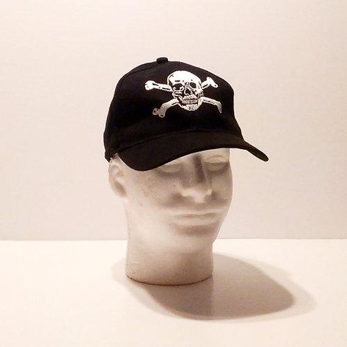Skull & Bones Black Baseball Cap