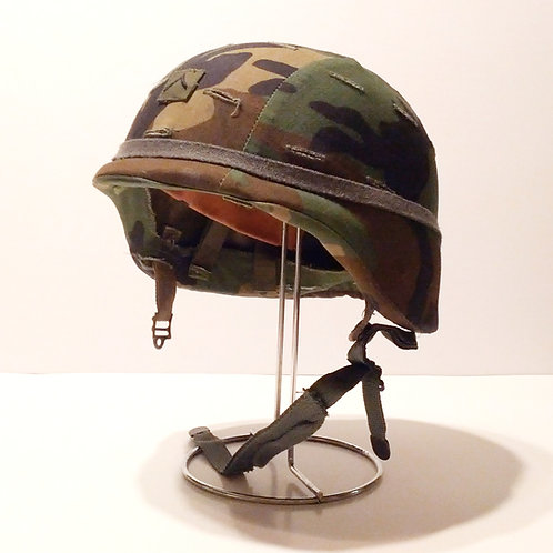 US Army Surplus Pasgt Kevlar Helmet With WL Camo Cover