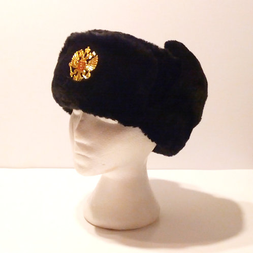 Russian Army Surplus Ushanka with Badge