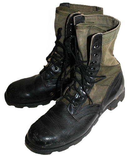 US Army Surplus O.D. Jungle Combat Boots - Used
