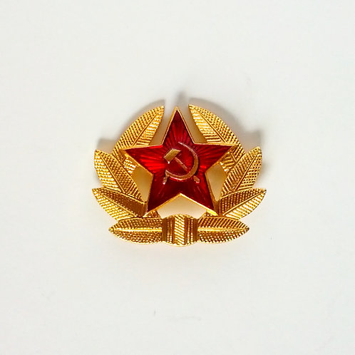 Russian Soviet Red Star Army Hat Badge