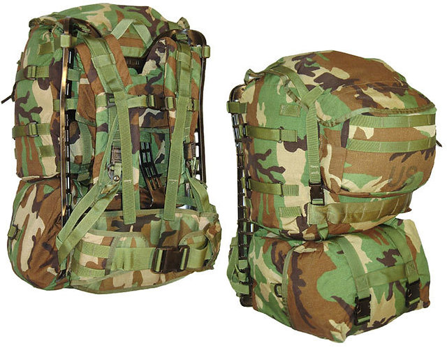 US Army Surplus Woodland Camo Molle II Pack