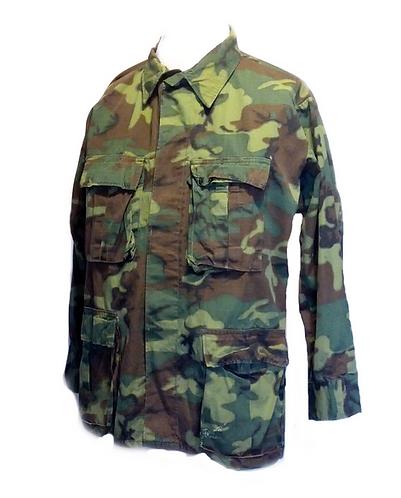 US Army Surplus ERDL Woodland Camo Combat Shirt