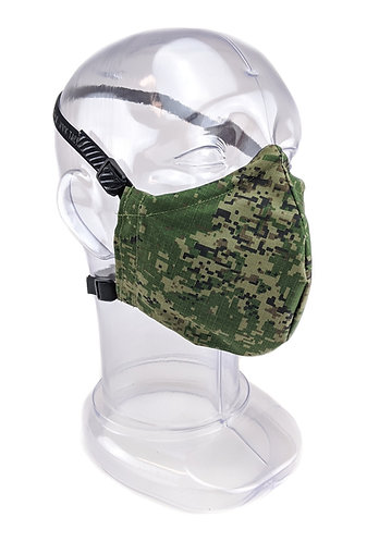 Reusable Russian Digital 2 or 3 Ply Fabric Face Mask