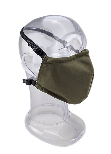 Reusable Olive Drab 2 or 3 Ply Fabric Face Mask