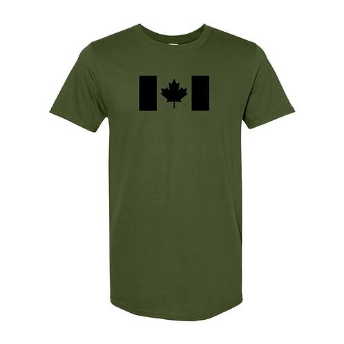 Olive Drab Canadian Flag T-Shirt-New