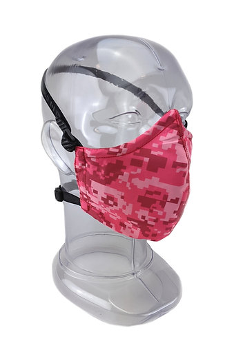 Reusable Digital Pink 2 or 3 Ply Face Mask