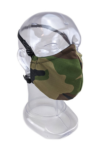Reusable Woodland 2 or 3 Ply Fabric Face Mask