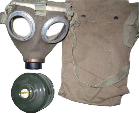 Hungarian Army Surplus M75 Gas Mask,Filter and Pouch-Unused