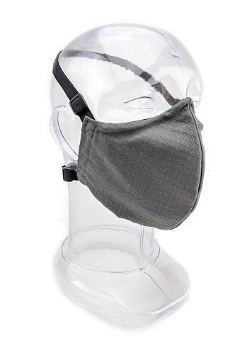 Reusable Gun Metal Grey 2 or 3 Ply Fabric Face Mask
