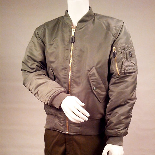Sage Green MA-1 Cold Weather Aviator Jacket