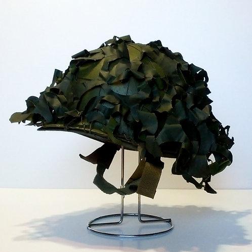 US Army Surplus M1 Helmet with Camo Net Scrim