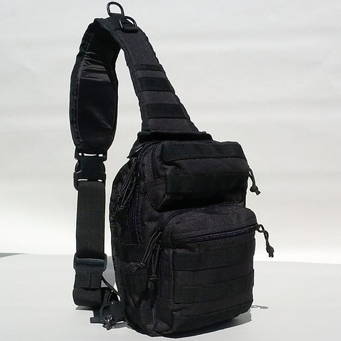 Black Compact Tactical Sling Pack