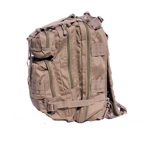 Coyote Tan 25L Tri-Strap Assault Pack