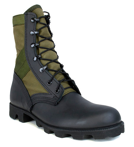 US Army Surplus O.D. Jungle Boots - Unused/New