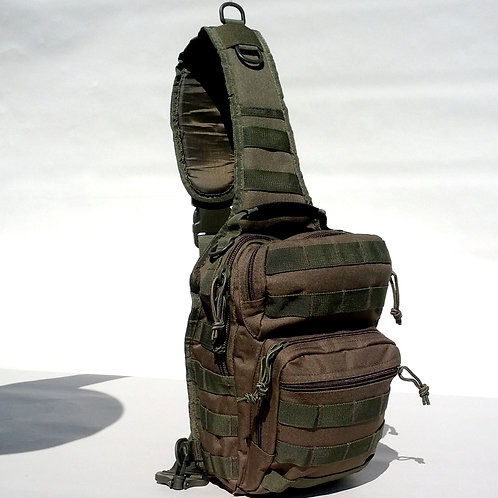 Olive Drab Compact Tactical Sling Pack