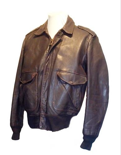Vintage Schott G2 Aviator Brown Leather Jacket