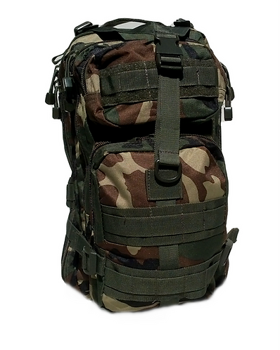 Woodland 25L Tri-Strap Assault Pack