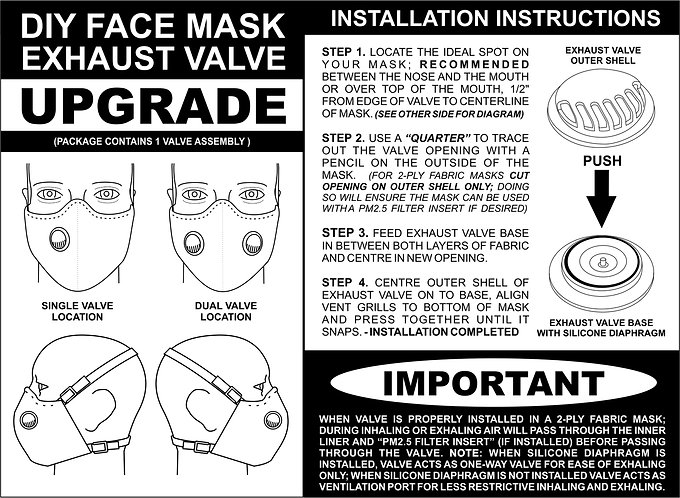 Exhaust Valve Upgrade for Fabric Face Mask