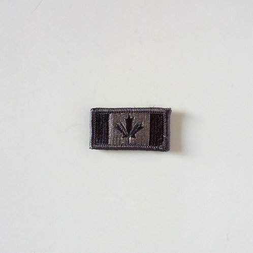 Canadian Black/Gray Velcro Flag Patch-Small
