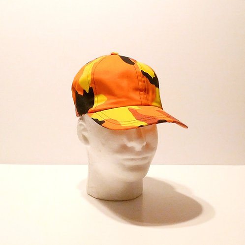 Orange Camo Baseball Cap