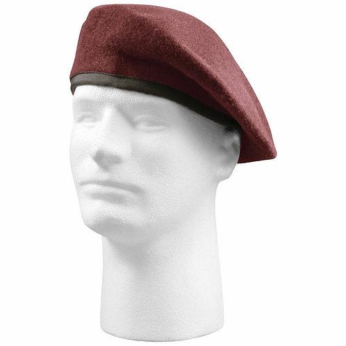 Canadian Army Surplus Burgundy Wool Beret-Unused