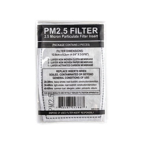 2.5 Micron Particulate Filter Insert For Face Mask