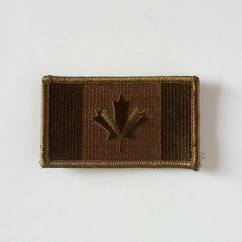 Canadian OD Velcro Flag Patch-Large