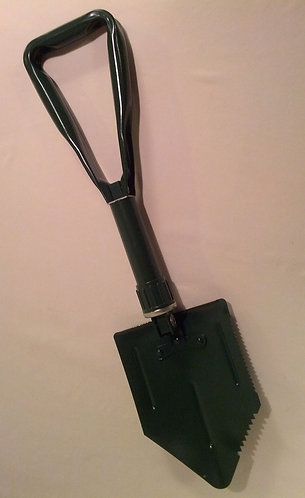 Green Trench Shovel w/ Black Pouch