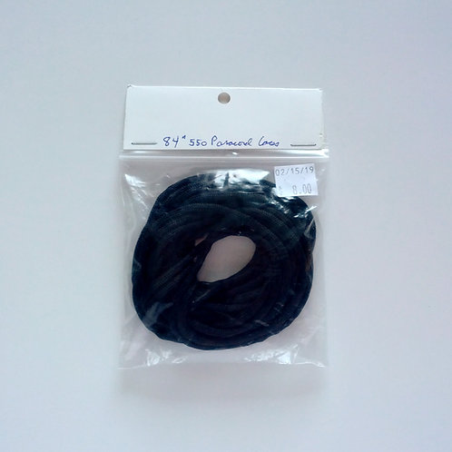 """Black 84""""Inch 550 Lbs Paracord Laces"""