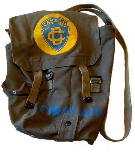 Canadian Civil Defence Surplus First Aid Backpack/Satchel