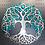 Tree of life metal sign teal