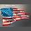 USA Flag metal sign