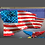 USA Flag Stand for our flag kneel for the cross metal sign