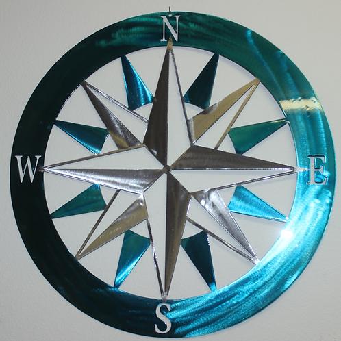 compass metal sign